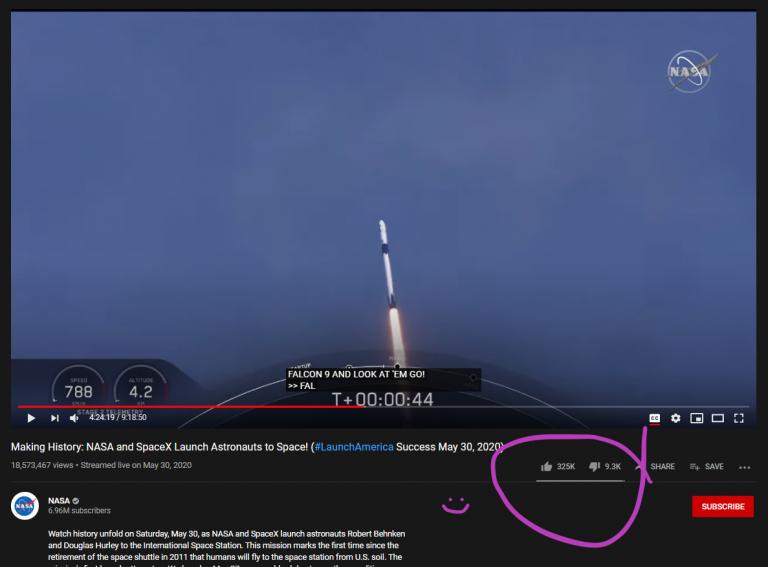 پرتاب فالکون ۹ توسط اسپیسایکس و ناسا
